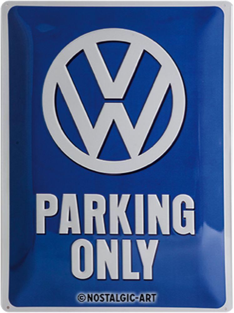 VW Parking Only 3D Metal Wall Art