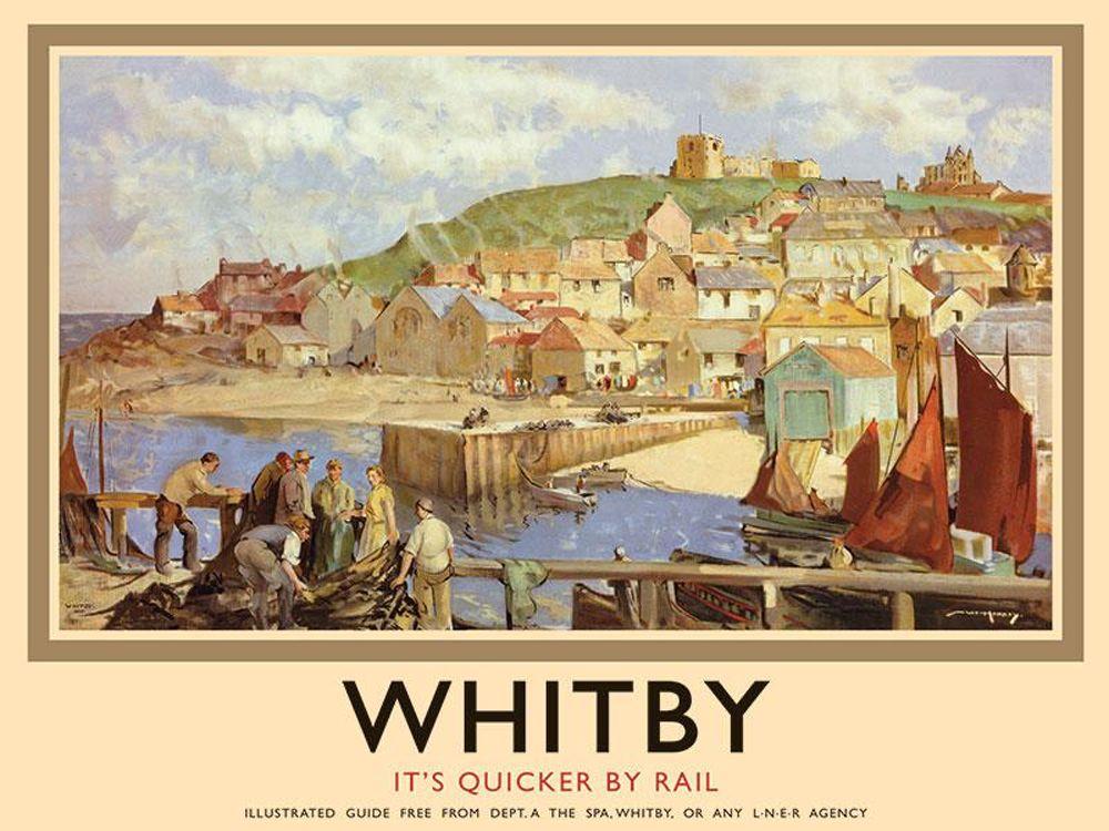 Whitby Railway Poster Metal Wall Art