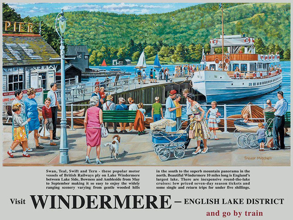 Windermere Railway Poster Metal Wall Art