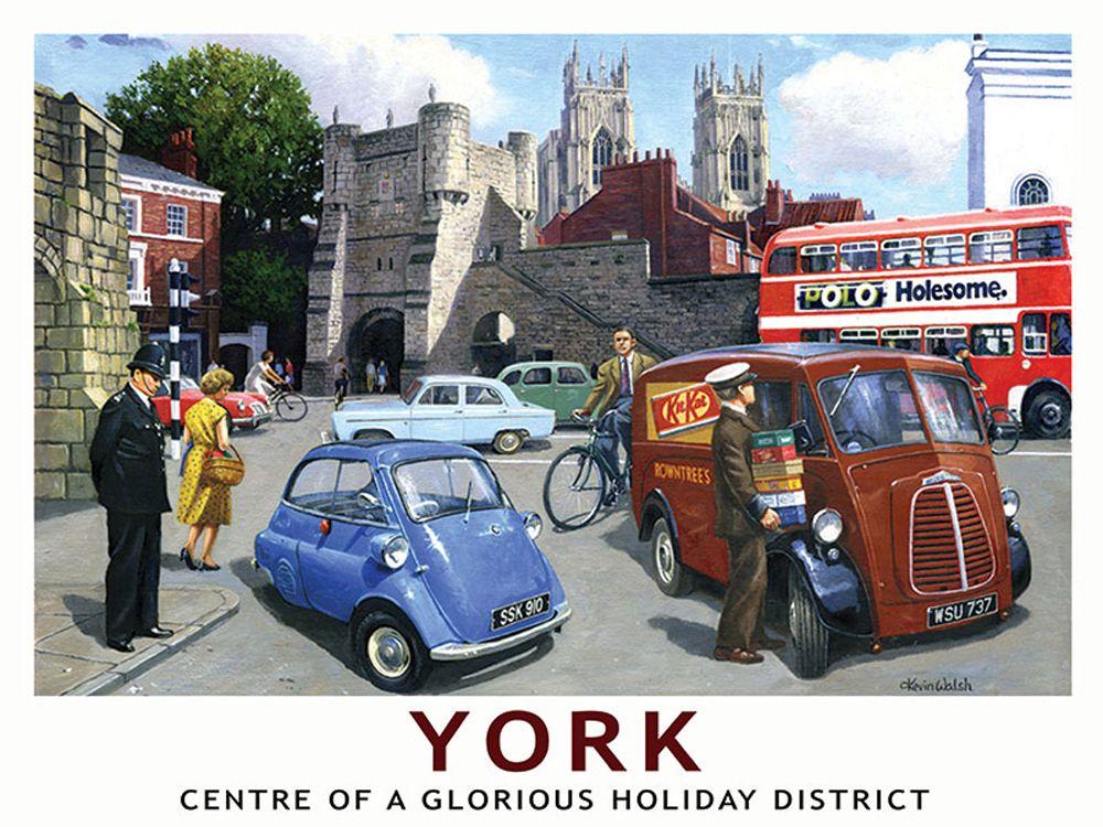 York Railway Poster Metal Wall Art