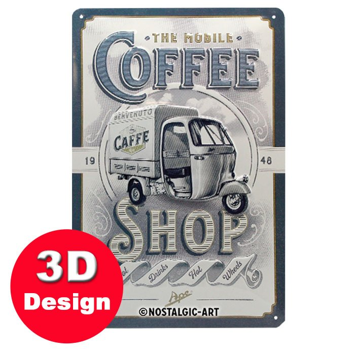Ape Coffee Shop 3D Metal Wall Art