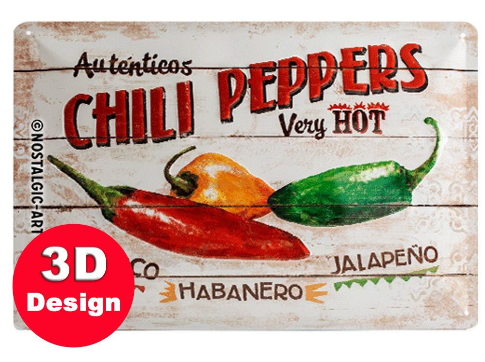 Chilli Peppers 3D Metal Wall Art