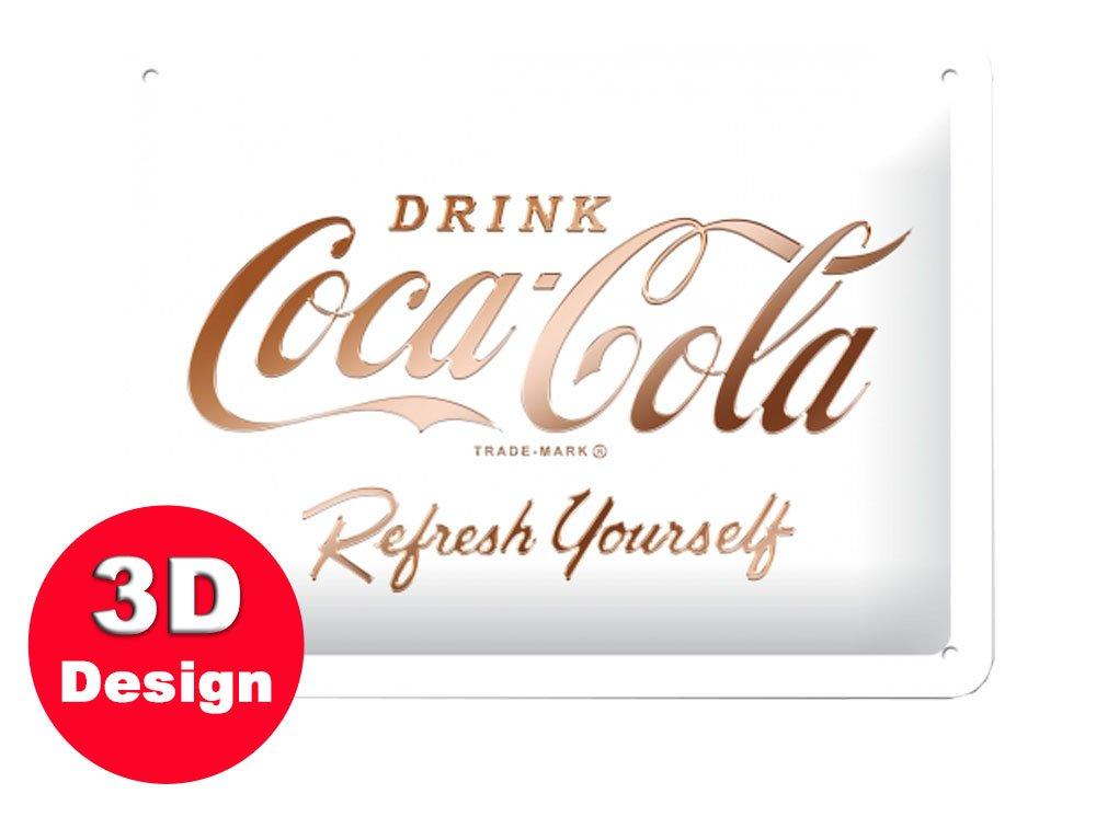 White Coca Cola 3D Metal Wall Art