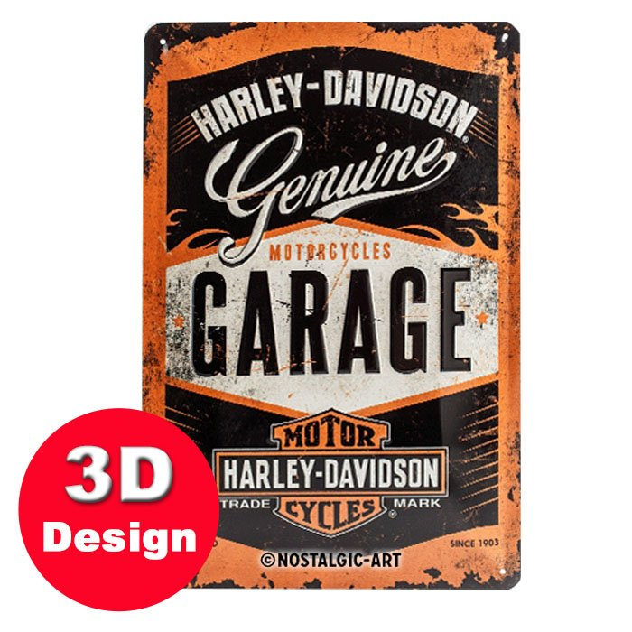 Harley Davidson 3D Metal Wall Art Small