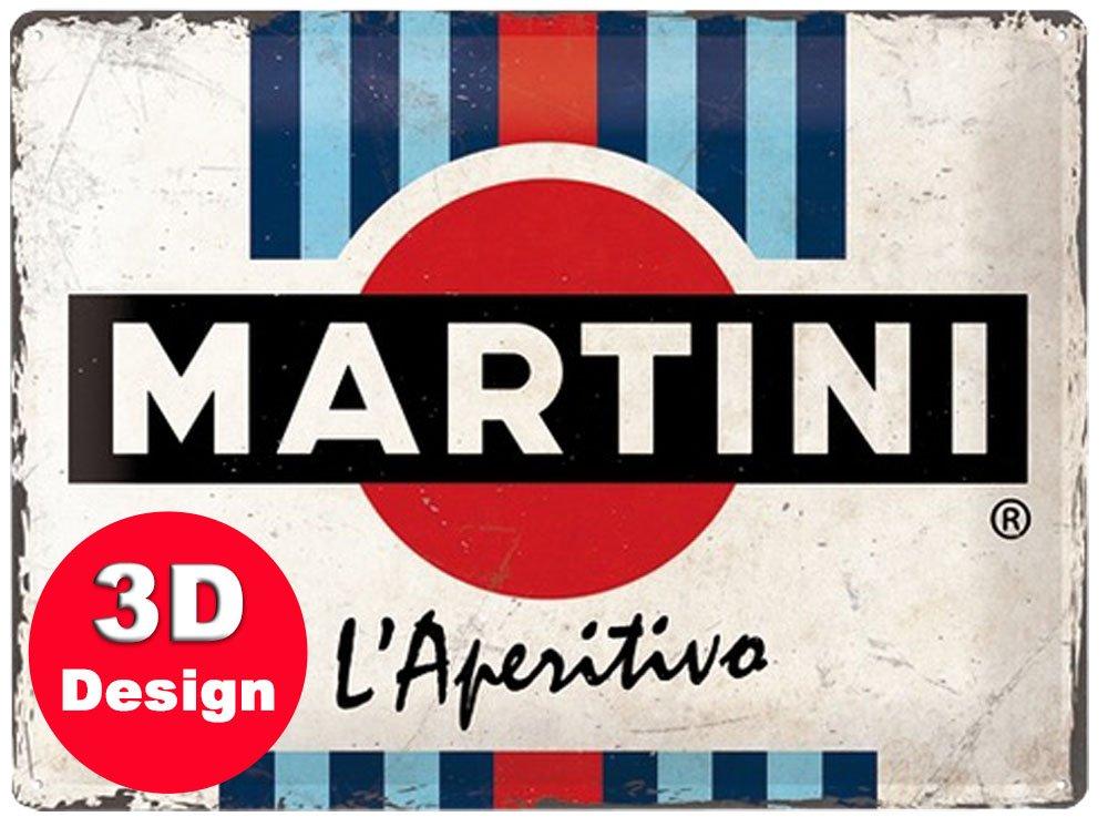 Martini 3D Embossed Metal Wall Art