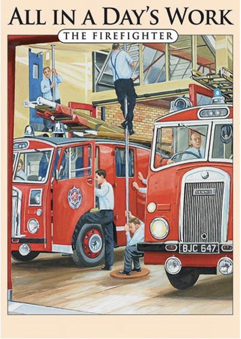 The Firefighter Metal Wall Art