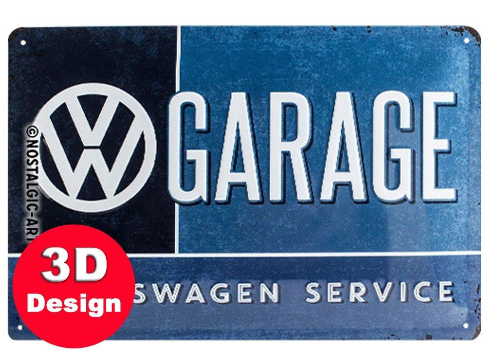 VW Garage 3D Embossed Metal Wall Art