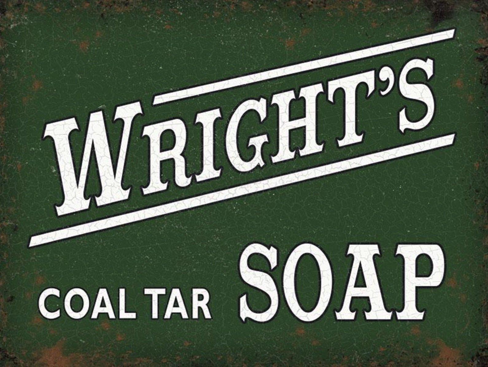 Wright's Coal Tar Soap Metal Wall Art