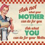 Ask Mother Metal Wall Art