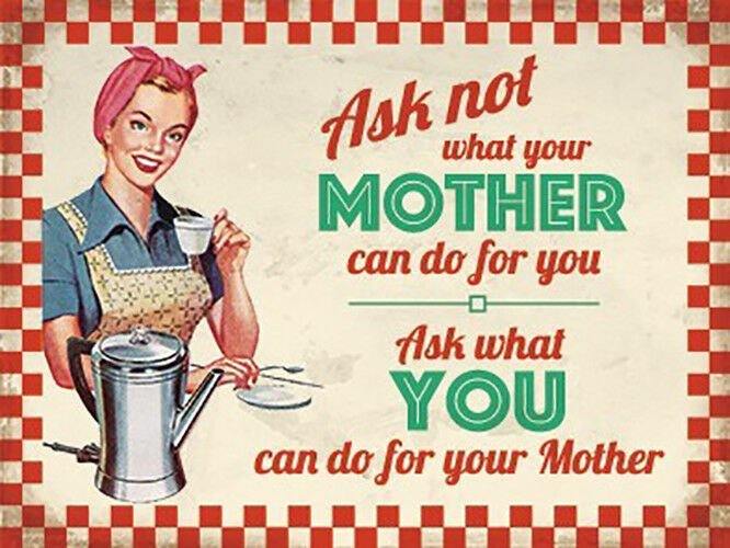Ask Mother Metal Wall Art