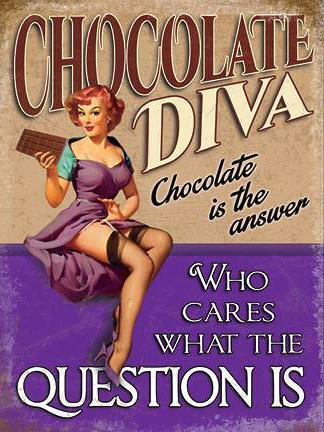 Chocolate Diva Metal Wall Art