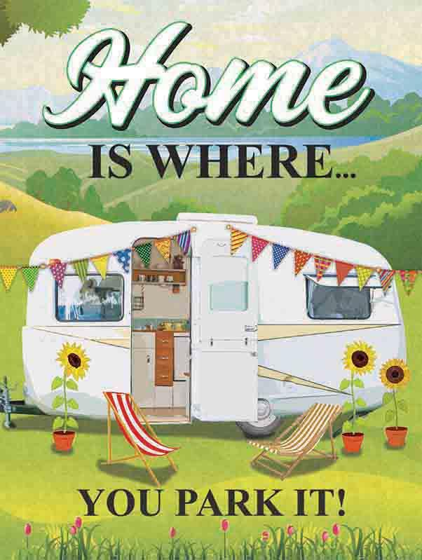 Home Is Where You Park It Metal Wall Art