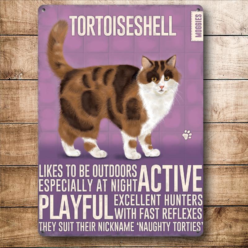 Tortoiseshell Cat Metal Wall Art