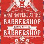 Barbershop Rules Metal Wall Art