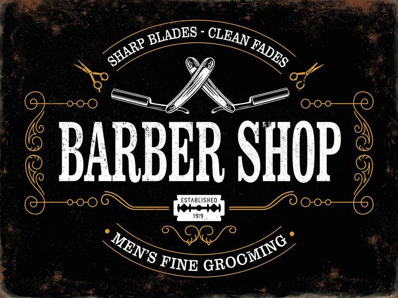 Black Barbershop Metal Wall Art