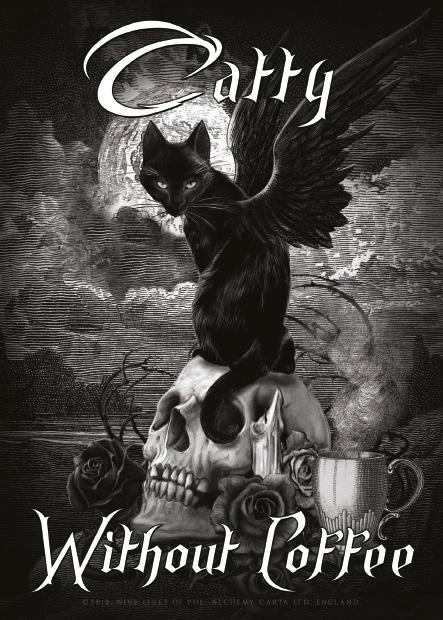Catty Without Coffee Metal Wall Art