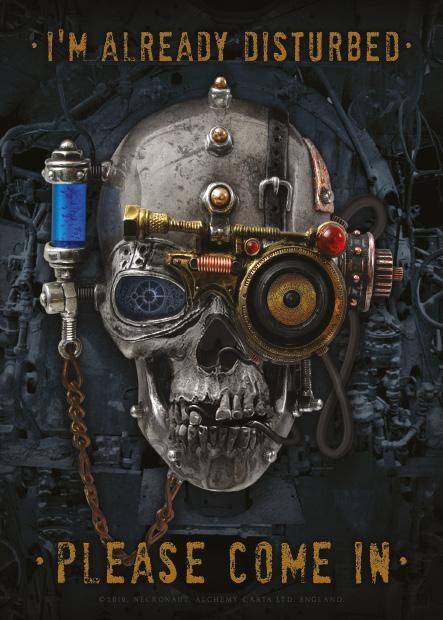 The Necronaut - Disturbed Metal Wall Art