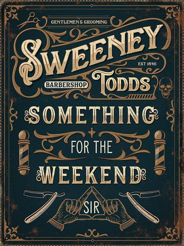 Sweeney Todd Metal Wall Art