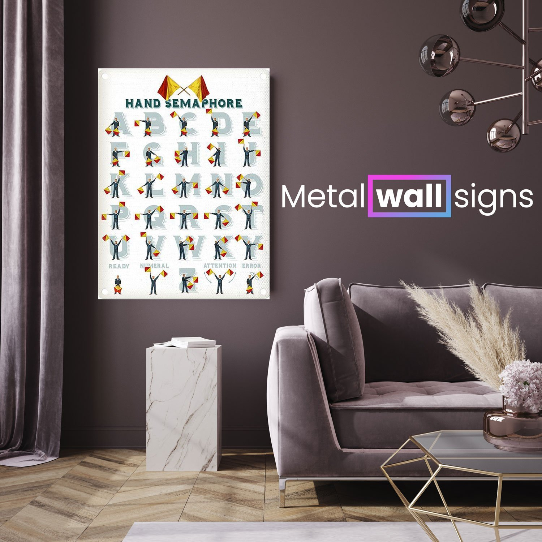 Hand-Semaphore-Metal-Wall-Art-Sign