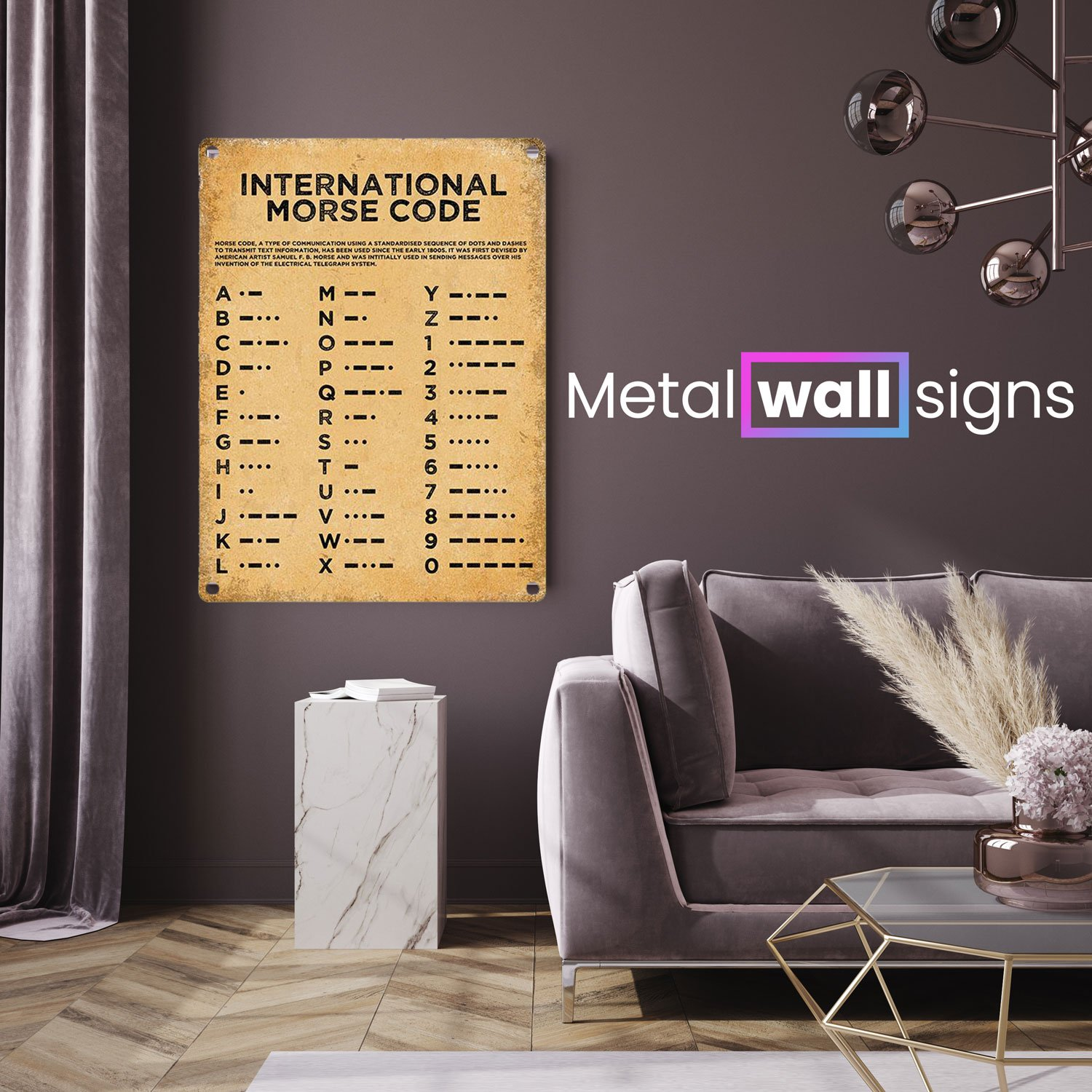 Morse-Code-Metal-Wall-Art-Sign