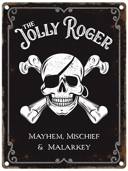 The Jolly Roger Pub Sign Metal Wall Art