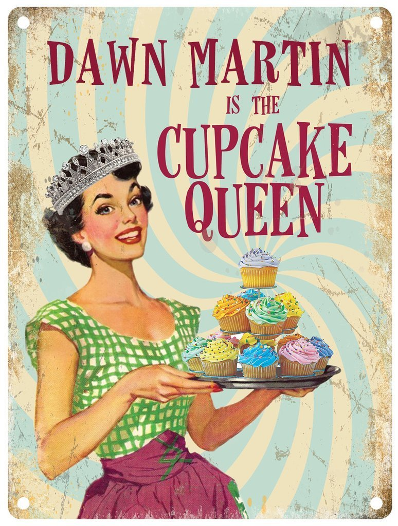 Personalised Cupcake Queen Metal Wall Art