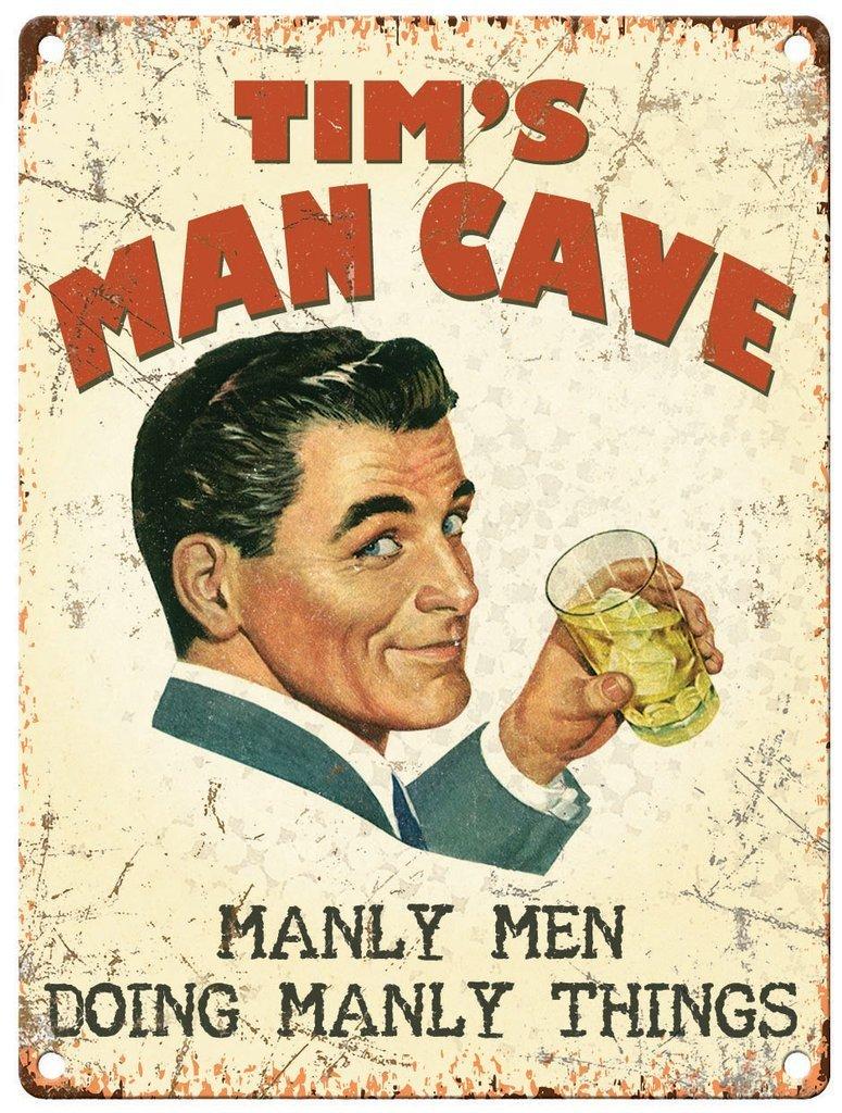Personalised Man Cave Metal Wall Art