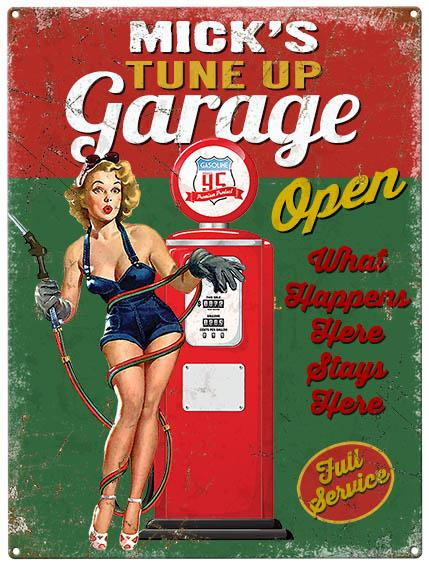 Personalised Garage Metal Wall Art